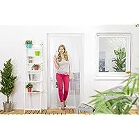 Insektenschutz Lamellenvorhang für Türen Türvorhang Polyester 100 x 220 cm Weiß