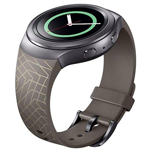 Armband, happytop 22mm Silikon Armband Ersatz Armbanduhr Band Wrist Strap für Samsung Galaxy Gear S2sm-r720 S braun