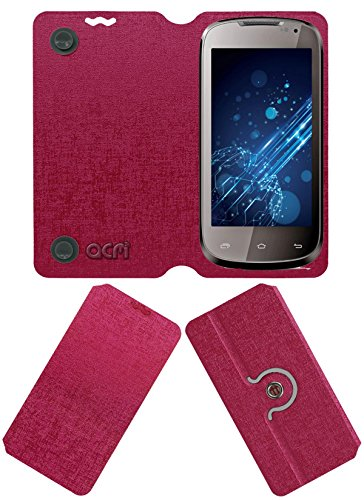 Acm Designer Rotating Flip Flap Case for Lava Xolo A500 Mobile Cover Pink  available at amazon for Rs.399