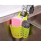 #9: Evana Kitchen Sink Caddy Sponge Storage Hanging Basket Adjustable Snap Button Type Drain Rack Faucet Storage Bag Storage Baskets Tool (Assorted Color)