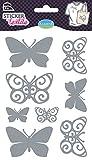 Unbekannt Aladine Glitzer Schmetterlingen Textil Aufkleber (8-teilig)