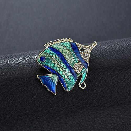 Olydmsky Brosche Mode Brosche Tropische Fische tropft Öl Brosche Accessoires Kragen PIN Legierung Corsage -