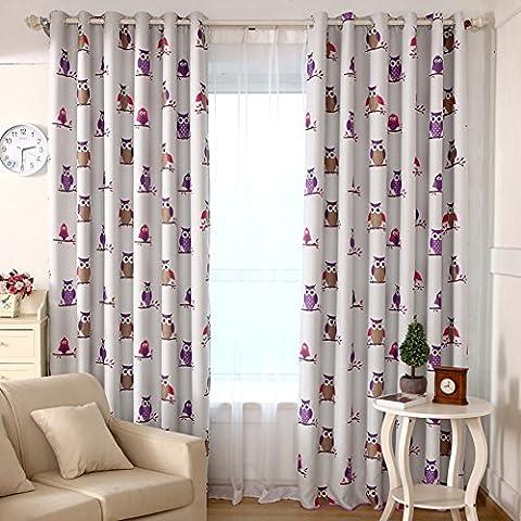 Rideaux de la chambre à coucher de vie drape l'abat-jour en tissu américain -E 200x270cm(79x106inch)