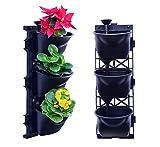 UPP Großes Starterset Vertikaler Garten | Hängende Pflanztöpfe Wand-Garten mit Bewässerungssystem | Bepflanzen Sie Ihre Wände! [2 x 3er Set, 20 TLG.]