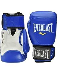 Everlast 811206LEATHER Blue 14oz Thai Boxing Gloves, Adultos Unisex, Azul