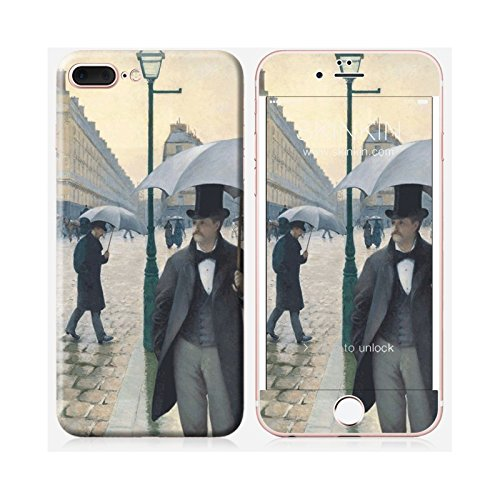 Skinkin Wandtattoo iPhone 7Plus von zu Hause Design Original: Rue de Paris Regen von Gustave Caillebotte
