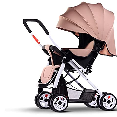 Qiangzi Baby trolley Child Baby Trolley Light Umbrella Car Four-wheel Collision Folding Can Be Lying Children's Carts Foldable Baby Stroller for Kids ( Color : #2 )
