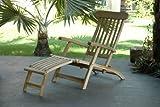 Teakliege Landu Deckchair Sonnenliege Liege Gartenliege massiv -