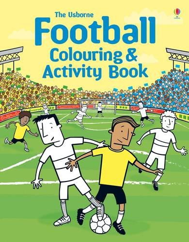 Football colouring activity book
