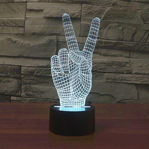 TOPROAD Illusion 3D LICHT LED-Nachtlicht 3D Tisch/Schreibtisch Lampe Schlafzimmer Deco Art Skulptur Wechselhafte Licht-(cartoonpack2-15Verschiedene Muster) Victory