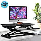 Ergonomic Standing Desk and PC Monitor Riser with Adjustable Height Compatible with Laptop Computer for Gaming Purposes (Black)
