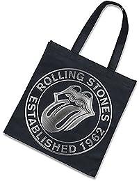 The Rolling Stones Eco Shopper Tragetasche Est 1962 Silber Logo