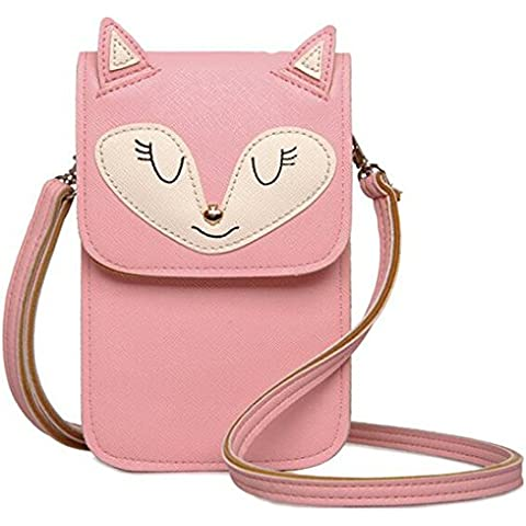 JXLOULAN Estate Messenger Phone confezione ragazze Cute Cartoon diagonale Mobile Phone Bag Small Change borsa - Tela Di Plastica Di Istruzioni