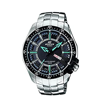 Casio Edifice Analog Black Dial Men's Watch – EF-130D-1A2VDF (ED417)