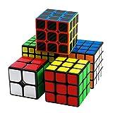 FAVNIC Speed Cube Set, Magic Cube 2x2 3x3 4x4 5x5 Smooth Puzzle Cube para niños y Adultos (Paquete de 5, Pegatina)