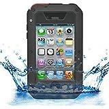 iProtect iPhone 4 / 4s Outdoor Case Schutzhülle Panzerglas Shock- and Dirtproof in schwarz