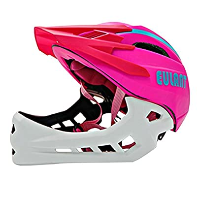ONT Kids Cycle Helmet Children Helmets for Bikes Boys Girls Cycling Helmet with Detachable Chin Guard Helmet Kids 2-6 years by ONT