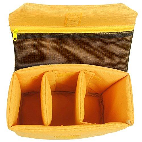 Oxford Wasserdicht Stoßfest Partition Gepolsterte Kamerataschen SLR DSLR einfügen Schutz-Fall für DSLR erschossen oder Flash Light (klein) (Dslr-fall)