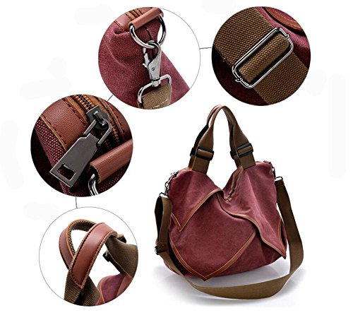 CHAOYANG-Borsa in pelle borse di tela portatile diagonale multiuso borse big bag , blue wine red