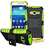 Samsung Galaxy Grand Neo / Grand Neo Plus Handy Tasche, FoneExpert® Hülle Abdeckung Cover schutzhülle Tough Strong Rugged Shock Proof Heavy Duty Case für Samsung Galaxy Grand Neo / Grand Neo Plus + Displayschutzfolie (Grün)