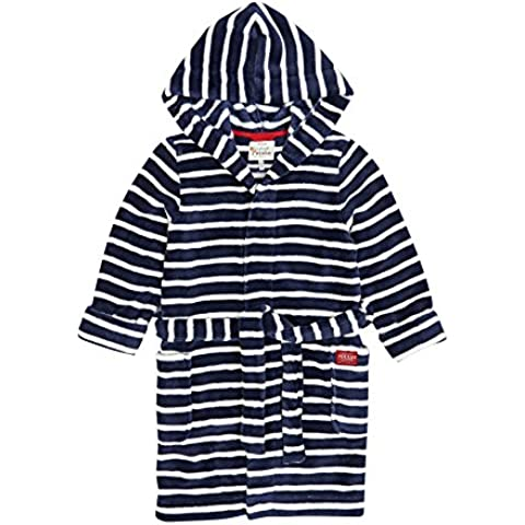 Joules Hooded Fleece Accappatoio - banda del blu marino...