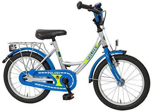 Bachtenkirch Kinderfahrrad 16'' Polizei Silber-blau RH 29 cm - Fahrrad-polizei