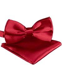 Pajarita ajustable unisex BomGuard, con pañuelo de bolsillo, disponible en 30 colores