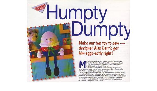 Humpty Dumpty Toy Sewing Pattern: Measurement 30cm x 18cm (Woman\'s ...