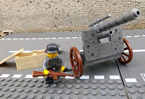 Modbrix 50111 – ✠ Bausteine Panzer Abwehrkanone PAK Stellung inkl. custom Wehrmacht Soldat ✠ - 3