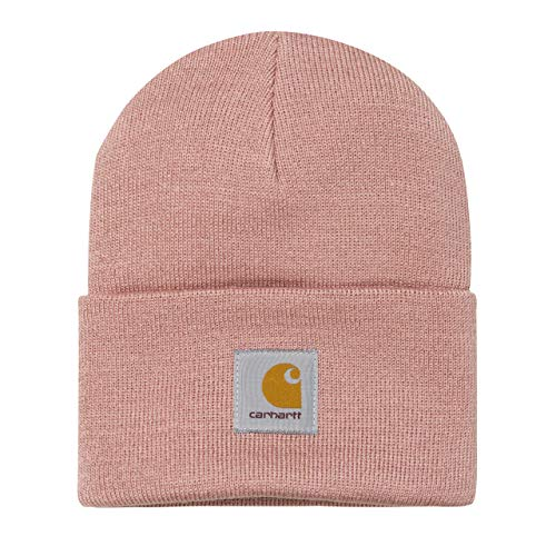 Carhartt WIP Damen und Herren Acrylic Watch Hat Winter Strickmütze Unisex Beanie Mütze -Rosa 8390