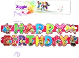 Ziggle Big Birthday Banner Glitter Decor...