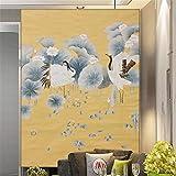 WEMUR Neue Chinesische Art Studie Nacht Handgemalte Heine Seide Sofa TV Hintergrund Tapete Gong Stift Wohnzimmer Veranda, 250X175 CM (98.4 Von 68.9 In)