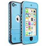 iPod 5 Case, ULAK iPod Touch 6th Generation Case Kickstand Hybrid Rigid High Impact Shockproof Waterproof Protective Case Cover for Apple iPod Touch 5th 6th Generation (Blue) - ULAK - amazon.co.uk