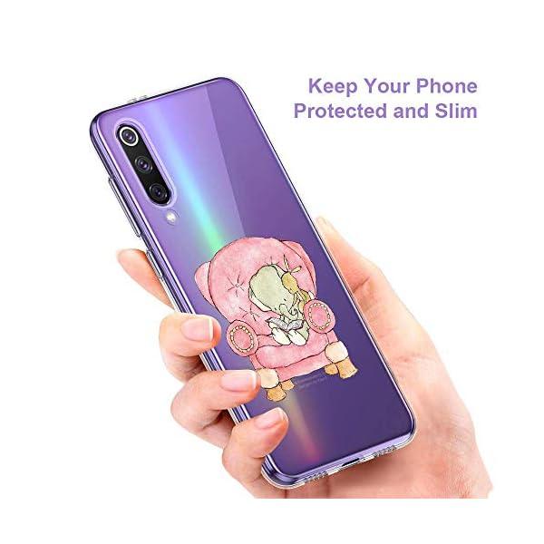 Oihxse Animal Serie Case Compatible con Samsung Galaxy M30s Funda Transparente Suave Silicona Elefante Conejo Patrón… 3