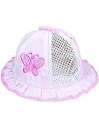 Kanggest Sombrero de Cubo del Malla de la Mariposa del Bebé Sombrero del Algodón del Bebé del Verano para Protegerse del Sol Recorrido de la Playa Fotografía Accesorios