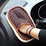 Godagoda Autowaschhandschuh Microfaser Auto Alu Felgen Reiniger-Handschuh Fahrrad Wolle Reinigungstuch Autowäsche für Autopflege Motorrad