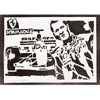 Poster F1 Michael Schumacher Handmade Graffiti Street Art - Artwork