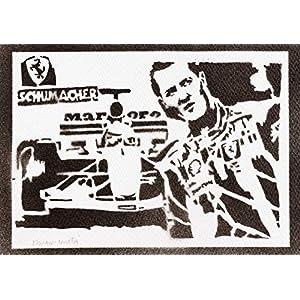 F1 Michael Schumacher Poster Plakat Handmade Graffiti Street Art – Artwork