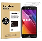 [Lot de 2] Asus Zenfone 2 Laser ZE500KG / ZE500KL Protection écran, iVoler Film Protection d'écran en Verre Trempé Glass Screen Protector Vitre Tempered pour Asus Zenfone 2 Laser ZE500KG / ZE500KL 5.0''- Dureté 9H, Ultra-mince 0.30 mm, 2.5D Bords Arrondis- Anti-rayure, Anti-traces de Doigts,Haute-réponse, Haute transparence- Garantie de Remplacement de 18 Mois