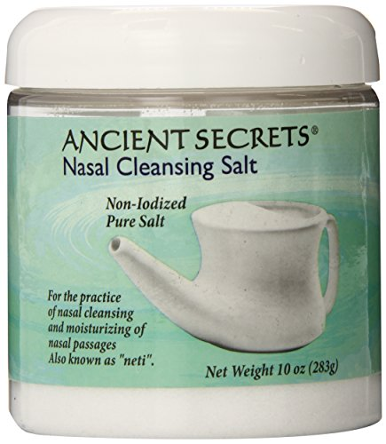 Ancient Secrets Nasal Cleansing Salt, 10 oz,Jar (Pack of 3) by Ancient Secrets (English Manual)