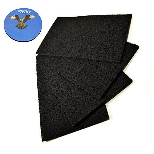 Carbon Filter Holmes (HQRP 4-Stück Carbon Filter C für Holmes HAP702 / HAP706 / HAP715 / HAP716 / HAP725 / HAP726 / HAP750 / HAP756 / HAP759 Luftreiniger + HQRP Unterzetzer)