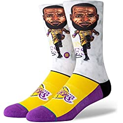 Stance Lebron Big Head Calcetines, Hombre, Medium