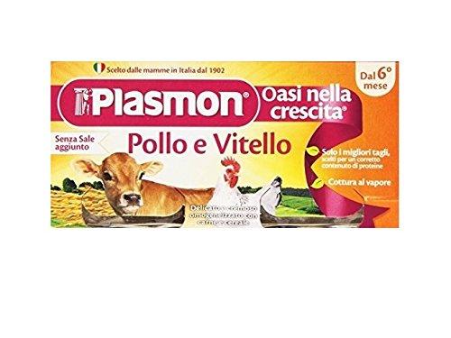 PLASMON pollo e vitello homogenisiert Babynahrung 4x 80g ab 4 Monaten 320g
