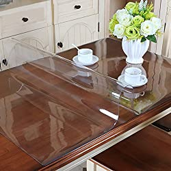 MAGILONA Homen - Protector de PVC impermeable para mantel, mesa, mesa de escritorio, cubiertas para mesa, tamaño personalizado, 23.5x47 Inch(60x120cm)