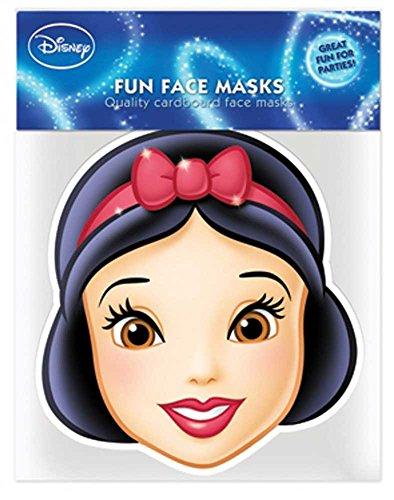 Disney Princess–Blancanieves Máscara de Cartón (Efecto satinado, agujeros en los ojos y cinta de goma, tamaño 30x 20cm