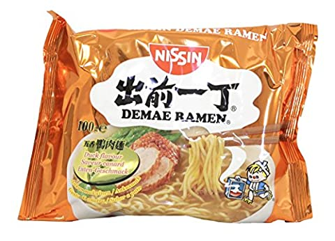 Nissin Demae Ramen Duck Instant Noodles, 100 g, Pack of 30