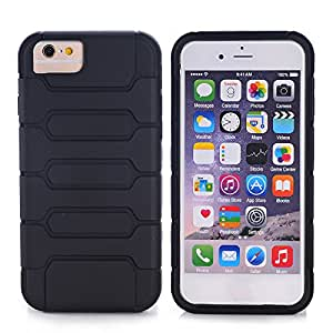 "iPhone 6 / iPhone 6S Case, Nspire Cam Shell hard exterior soft protective interior Dual layer absorbs shock from drops scratch resistent (Apple iPhone 6 Case / iPhone 6S Case 4.7"") (Black)"