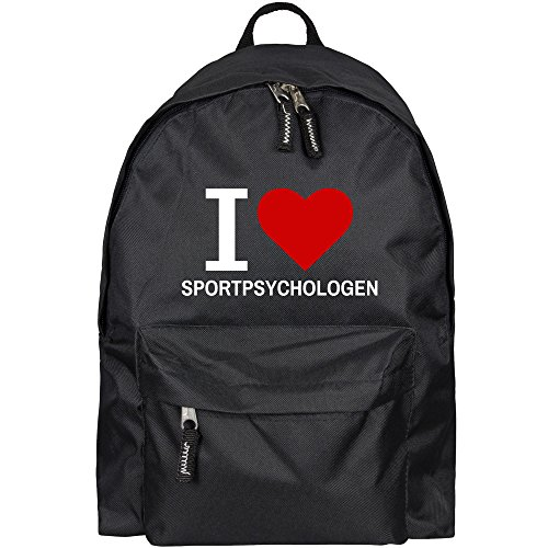 Rucksack Classic I Love Sportpsychologen schwarz