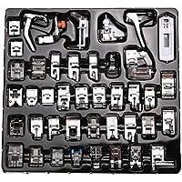 42 Unids aguja de tejer Máquina de Coser Doméstica Trenzado Punto Ciego Darning Prensatelas Kit de