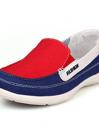 ZQ Scarpe Donna - Mocassini - Ufficio e lavoro / Casual - Moccasino - Piatto - Di corda - Blu / Verde / Rosso , red-us8.5 / eu39 / uk6.5 / cn40 , red-us8.5 / eu39 / uk6.5 / cn40 green-us5.5 / eu36 / uk3.5 / cn35